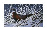 Fresh Snow - Ringneck Pheasant Giclee Print by Wilhelm Goebel