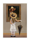 Girl in Museum Giclee Print by John Zaccheo
