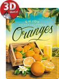 Oranges Plaque en métal