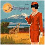 Kilimanjaro Kunst af Bruno Pozzo
