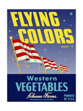 Flying Colors Brand Western Vegetables Giclee Print