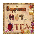 Happiness Is a Hot Cup of Tea Giclée-Druck von Megan Aroon Duncanson