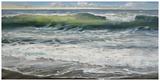 Shoreline study 8 Print by Carole Malcolm