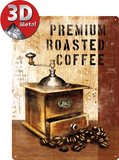 Premium Roasted Coffee Tin Sign