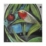 Humming Bird and Cherry Giclee Print by Tim Nyberg