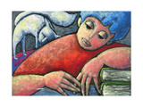 Girl Giclee Print by Oscar Ortiz