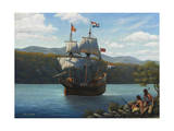 Half Moon on the Hudson Giclee Print by John Zaccheo
