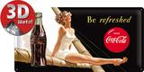 Coca-Cola Tin Sign - Be refreshed Lady Plakietka emaliowana