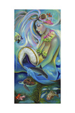 Fergierina the Mermaid Giclee Print by Sue Clyne