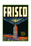 Frisco Brand California Vegetables Giclee Print