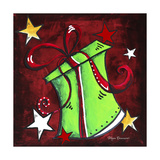 Green Present Giclee Print by Megan Duncanson