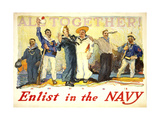 Enlist in the Navy Giclee Print