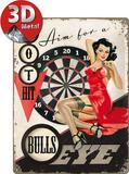 Bulls Eye Plechová cedule