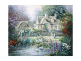 Feeding Geese Giclee Print by Nicky Boehme