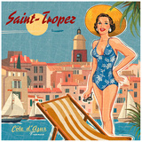 Saint-tropez Prints by Bruno Pozzo