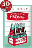 Coca-Cola Tin Sign - Diner Sixpack Plaque en métal