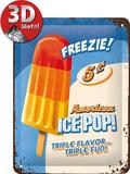 Ice Pop Plechová cedule