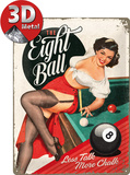 The Eight Ball Tin Sign