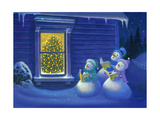 Here We Come a Caroling Giclee Print by Michael R. Humphries