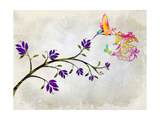 Hummingbird of Paradise Giclee Print by Tina Lavoie