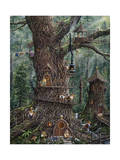 Gnomes Sweet Home Giclee Print by Jeff Tift
