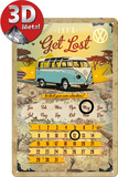 VW Bulli - Let's Get Lost Tin Sign