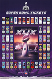 Super Bowl XLIX - Tickets Posters