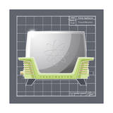 Galaxy Toaster - Lime Giclee Print by Larry Hunter