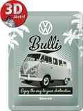 VW Retro Bulli Plaque en métal