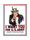 I Want You for U.S. Army Giclee Print