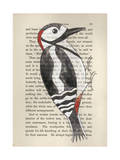 Great Spotted Woodpecker Giclee Print by Jane Wilson