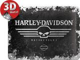 Harley-Davidson Skull - Metal Tabela