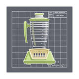 Galaxy Blender - Lime Giclee Print by Larry Hunter