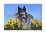 Flower Power Bunny Giclee Print by Karie-Ann Cooper