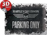 Harley-Davidson Skull Parking Only Plaque en métal