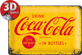 Coca-Cola Tin Sign - Logo Yellow Metalen bord