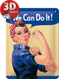 We Can Do It Tin Sign