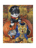Halloween Kittens Giclee Print by Jenny Newland