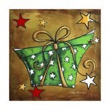 Green Stars Present Giclee Print by Megan Aroon Duncanson
