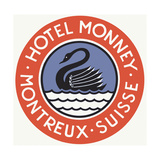 Hotel Monney Montreaux Giclee Print
