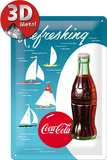 Coca-Cola Tin Sign - Sailing Boats Plaque en métal
