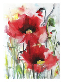Red Poppies Prints by Karin Johannesson