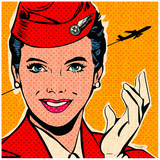 Flight attendant red Art by Bruno Pozzo