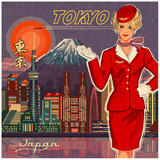 Tokyo Poster by Bruno Pozzo