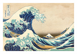 The Great Wave Off Kanagawa Poster van Katsushika Hokusai