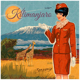 Kilimanjaro Kunstdrucke von Bruno Pozzo