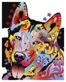 Siberian Husky Print by Dean Russo