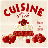 Summer cuisine cake Poster by Galith Sultan
