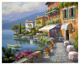 Seaside Bistro Café Prints by Sung Kim
