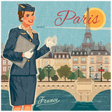 Paris suit Posters by Bruno Pozzo